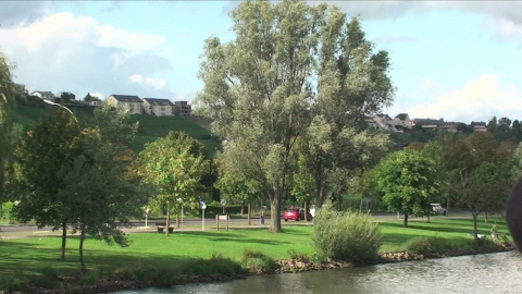 Scenic cruise along the Moselle River, Remich, Luxembourg