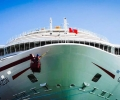 Carnival Cruise Ship Bow All Shiny and New After Hitting Pier