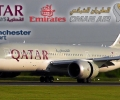 MIDDLE-EAST TRIO | OMAN, EMIRATES, QATAR (A330, B787, A380) | Evening Landings | Manchester Airport