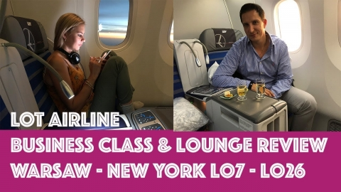 LOT Airline Business Class & Business Lounge REVIEW /In flight Experience Warsaw – New York LO7 LO26