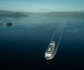 Cruise ship by drone in 4K