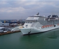 Bad Weather Impacts Cruise Ship Christening in Southampton