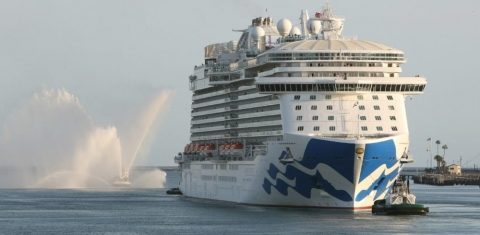 Princess Cruise Ship Begins Sailing from Port of Los Angeles