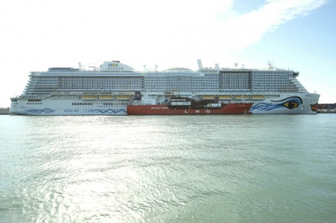 Largest Carnival Owned Cruise Ship Makes Mediterranean History