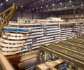 Two Blocks Connected to Become Giant Cruise Ship Owned by Carnival