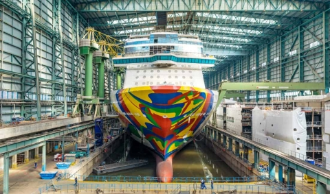Check Out Norwegian Cruise Line's Upcoming New Ship Under Construction