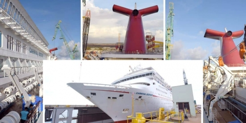 Carnival Cruise Ship Receives Enhancements During Two-Week Dry Dock