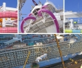 Huge Slides Installed During Oasis of the Seas Dry Dock