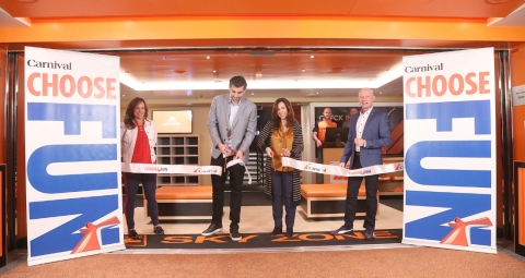 First-Ever Sky Zone Trampoline Park at Sea Opens on New Carnival Cruise Ship