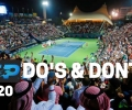 DUBAI ATP 500 (2020) | DO's and DONT's while Watching the Game