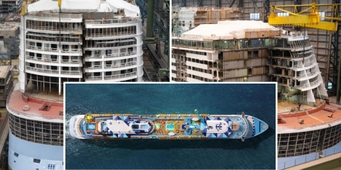 Last Two Blocks Come Together During Odyssey of the Seas Construction