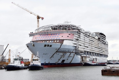Photos of Royal Caribbean's Wonder of the Seas After Float Out